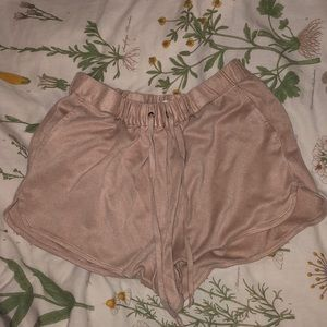 Pink Suede Shorts